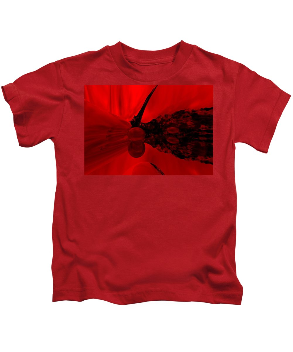 Abstract Kids T-Shirt featuring the digital art Untitled by David Lane