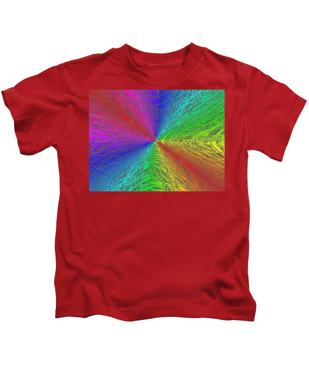Abstract Kids T-Shirt featuring the digital art Urban Colorful by Tim Allen