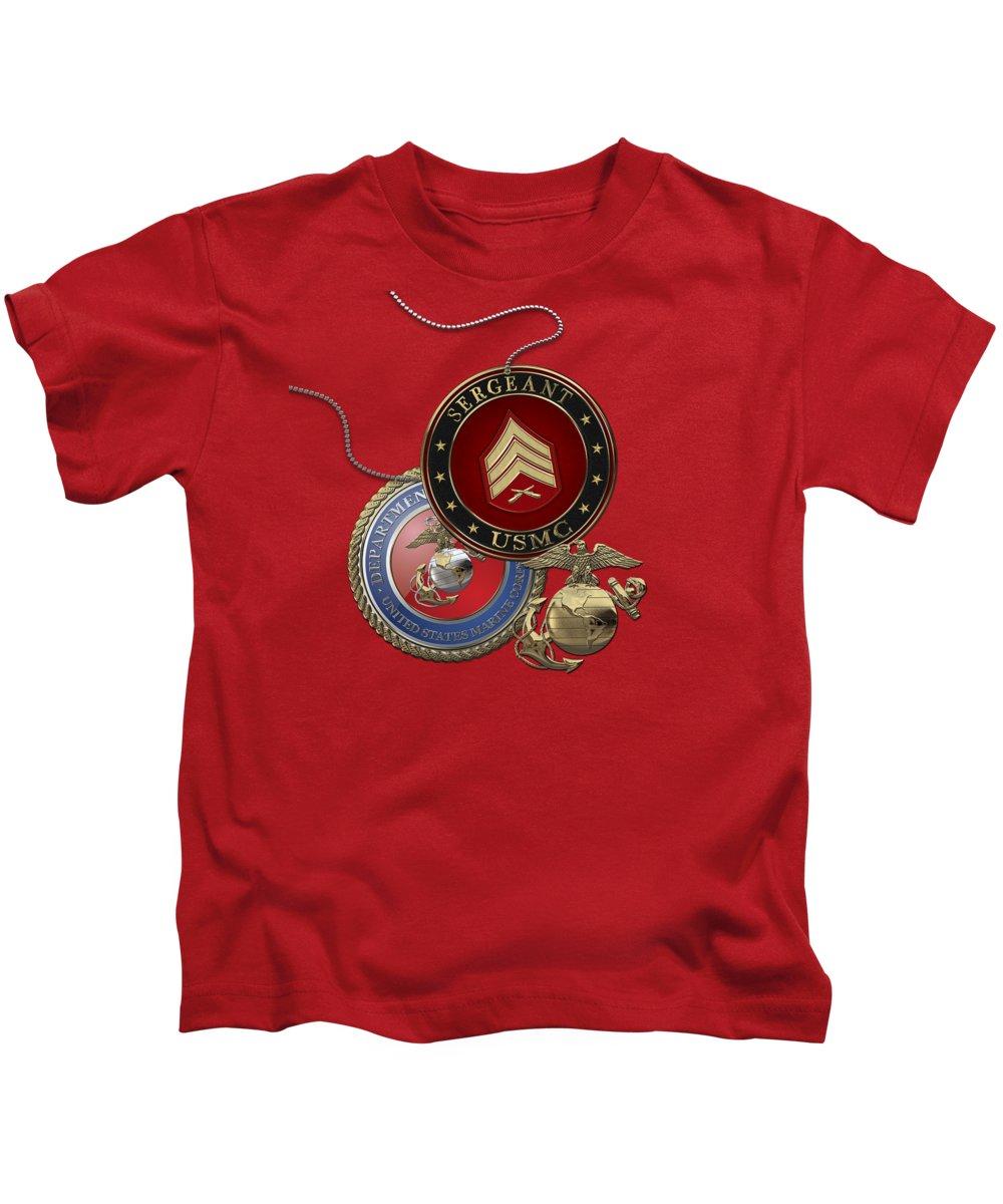 Usmc Rank Insignia Kids T-Shirts