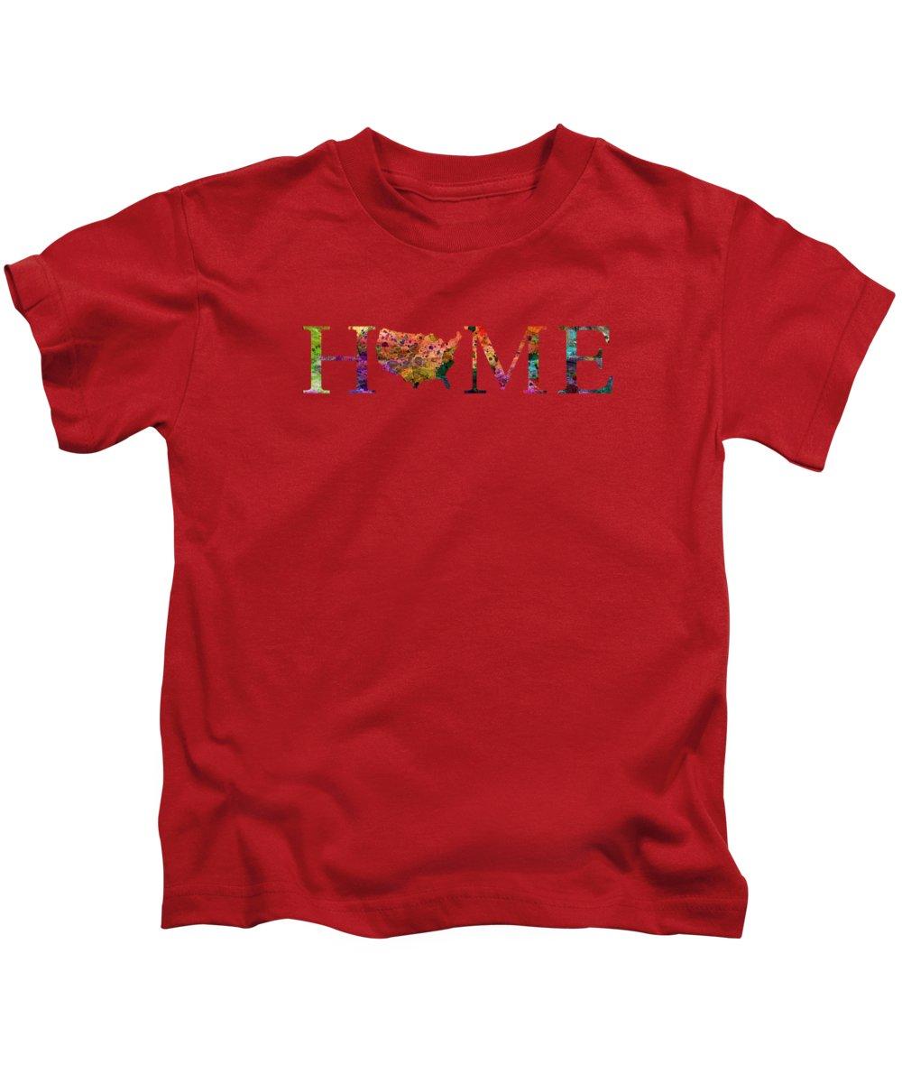 United States Kids T-Shirt featuring the digital art USA by Mark Ashkenazi