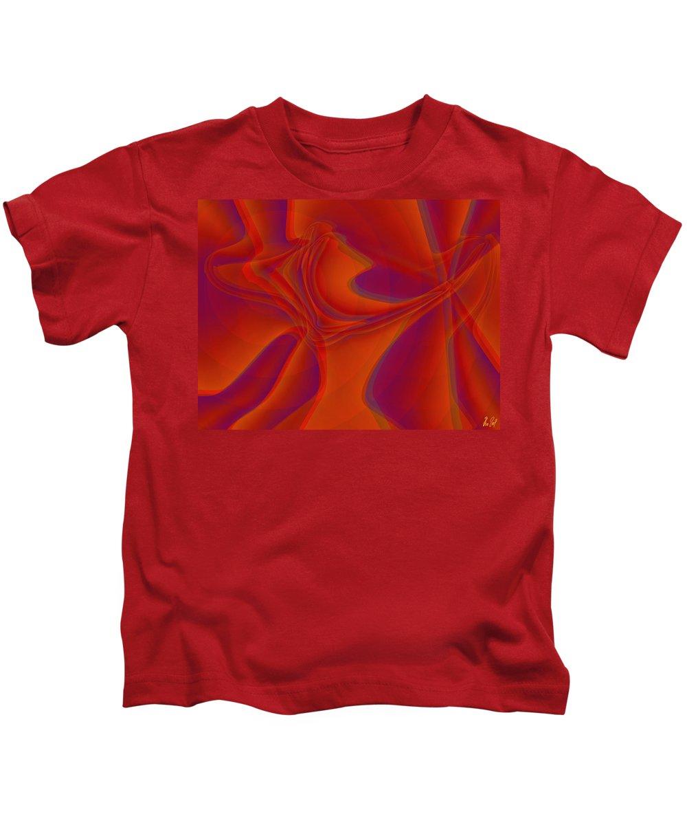 Veil Kids T-Shirt featuring the digital art Veil Dance by Helmut Rottler