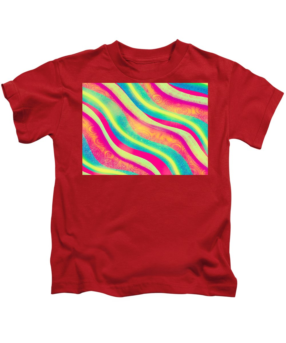 Vibrant Kids T-Shirt featuring the digital art Vibrant Waves by Sheree Kennedy