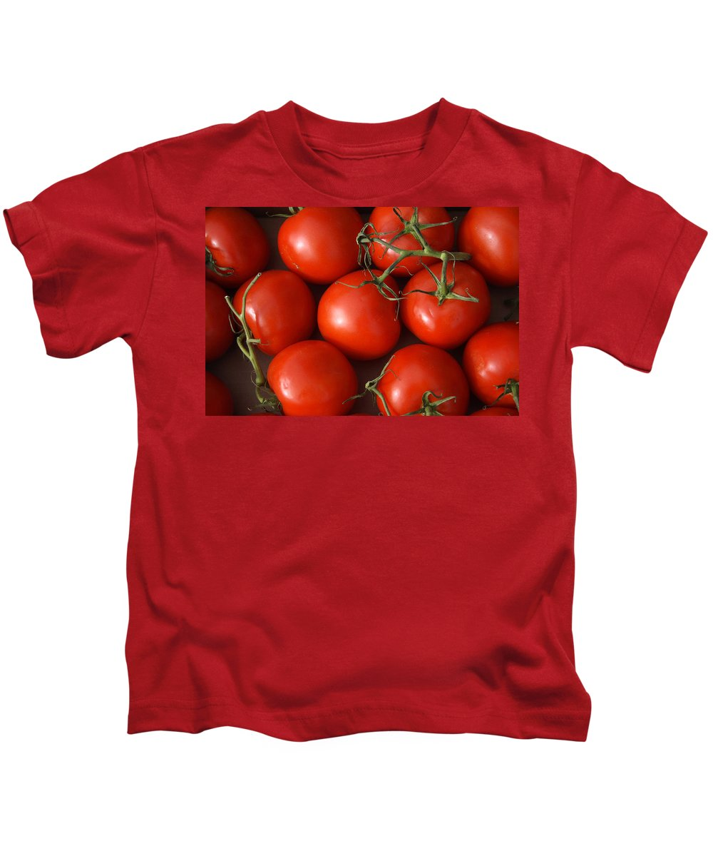 Tomatoes Kids T-Shirt featuring the photograph Vine Ripe Tomatoes Fine Art Food Photography by James BO Insogna