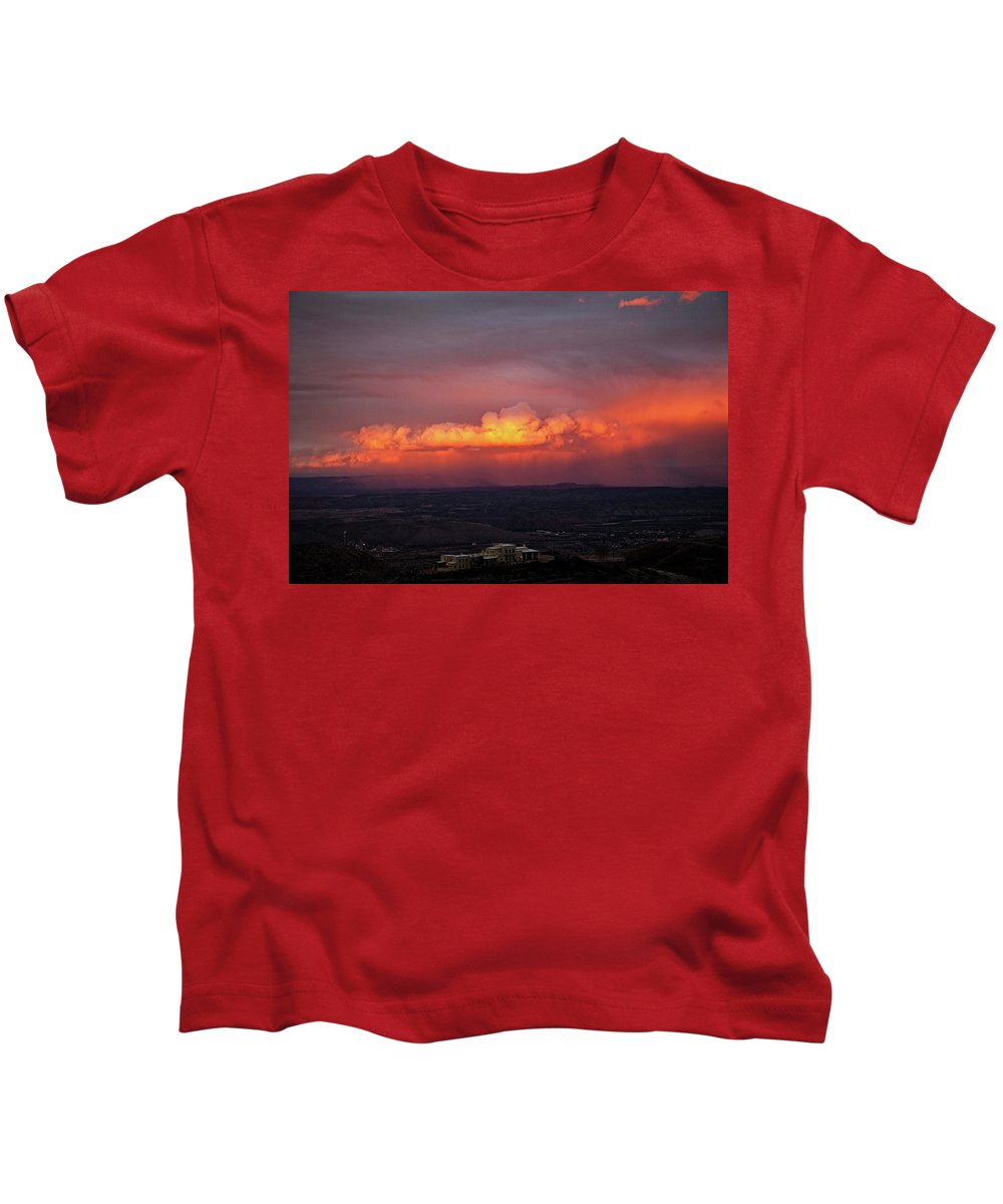 Jerome State Park Kids T-Shirt featuring the photograph Vivid Verde Valley Sunset by Ron Chilston