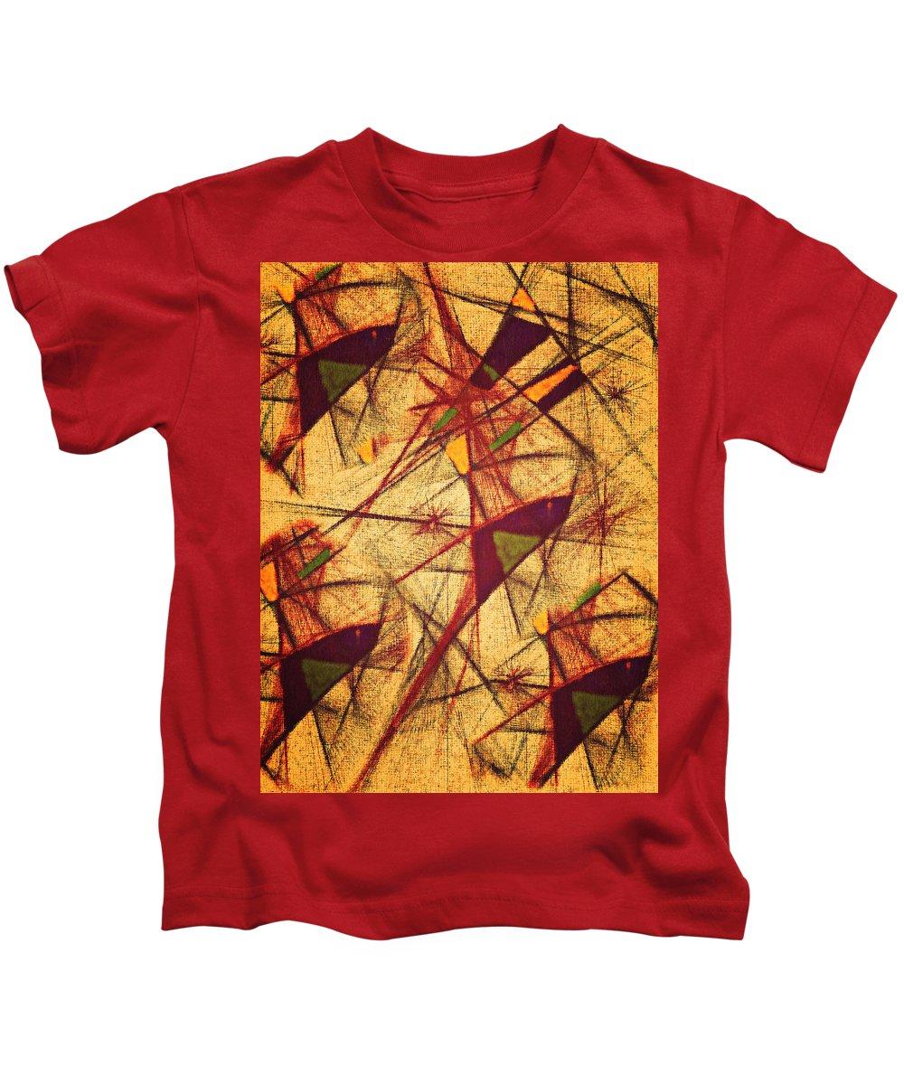 Abstract Digital Kids T-Shirt featuring the digital art Vuelo by Aurora Art