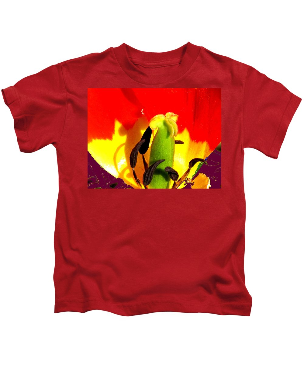 Abstract Kids T-Shirt featuring the photograph Waiting by Ian MacDonald