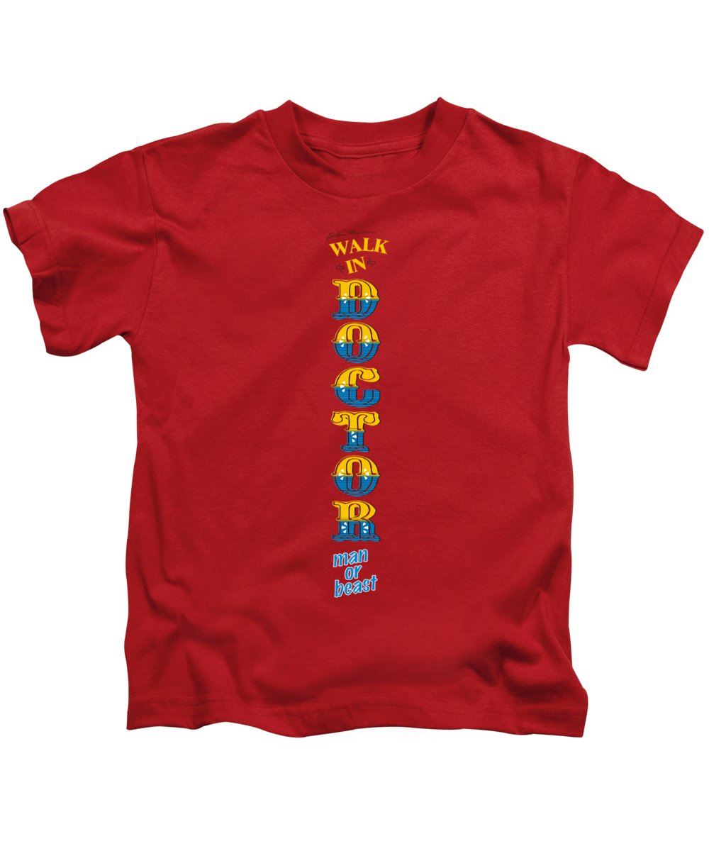 Doctor Kids T-Shirt featuring the digital art Walk In Doctor by Priscilla Wolfe