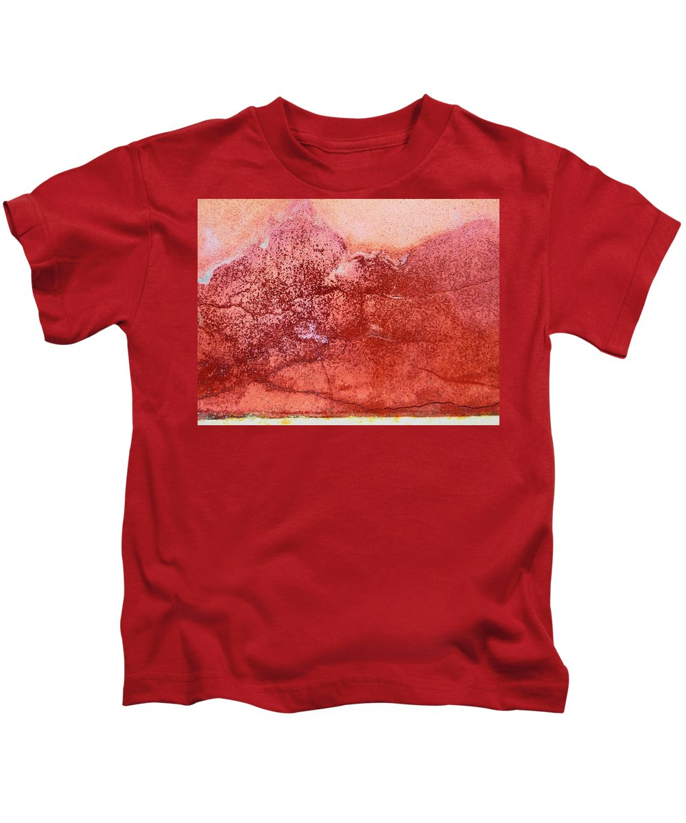 Abstract Kids T-Shirt featuring the photograph Wall As Mountain Landscape by Lenore Senior