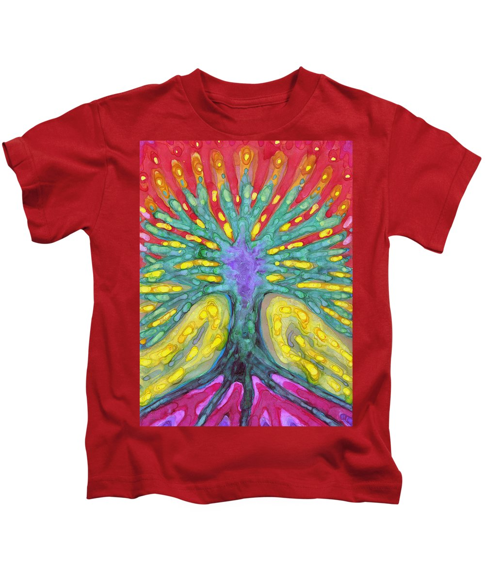 Colour Kids T-Shirt featuring the painting Water Tree by Wojtek Kowalski
