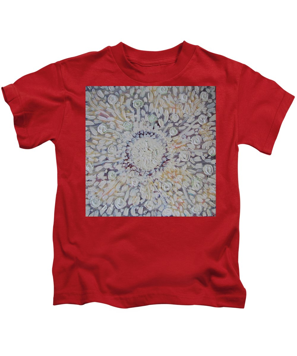 Sunlight Kids T-Shirt featuring the painting White Sunlight by Ziva Ben Arav