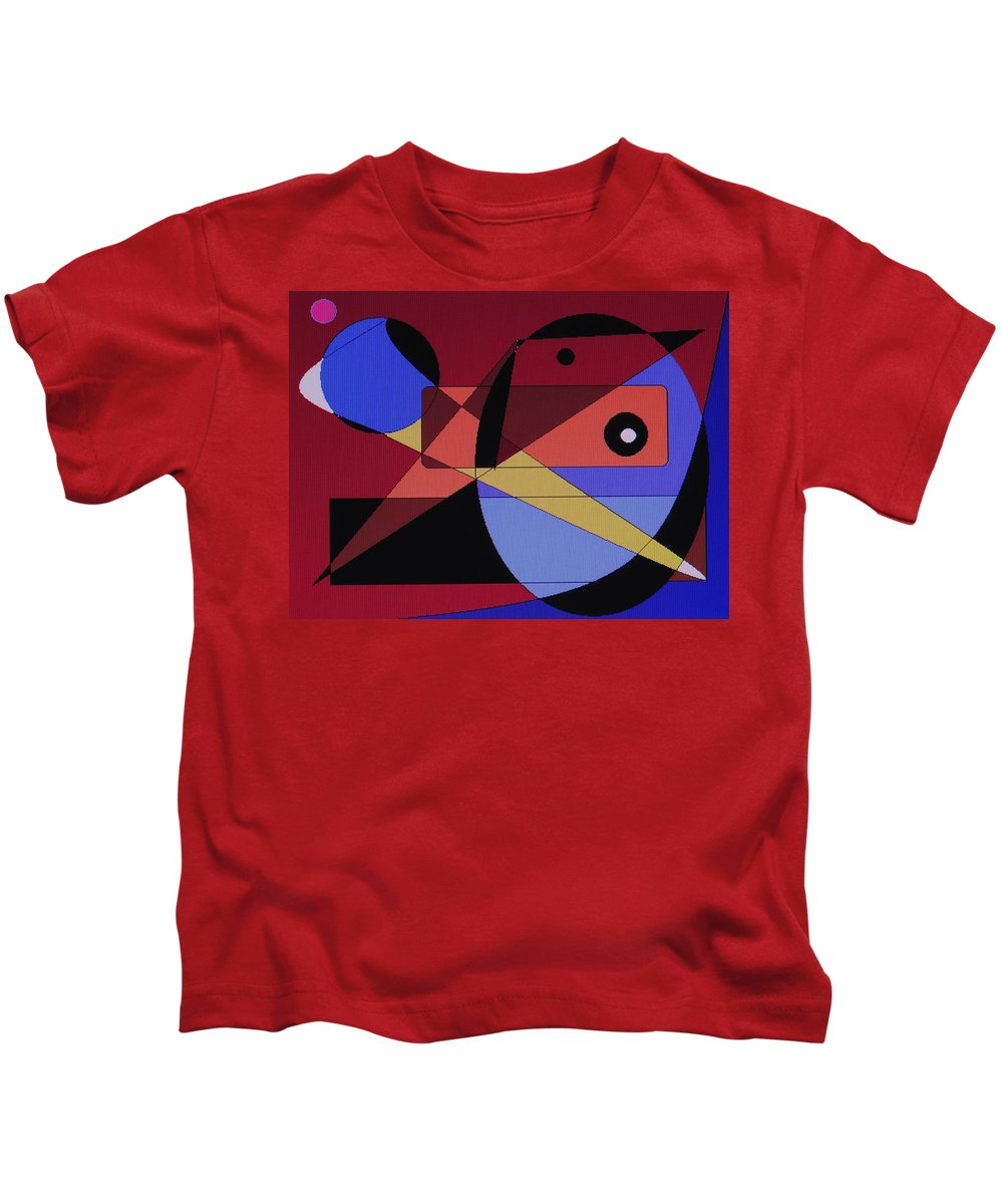 Abstract Bird Kids T-Shirt featuring the digital art Wild Bird by Ian MacDonald