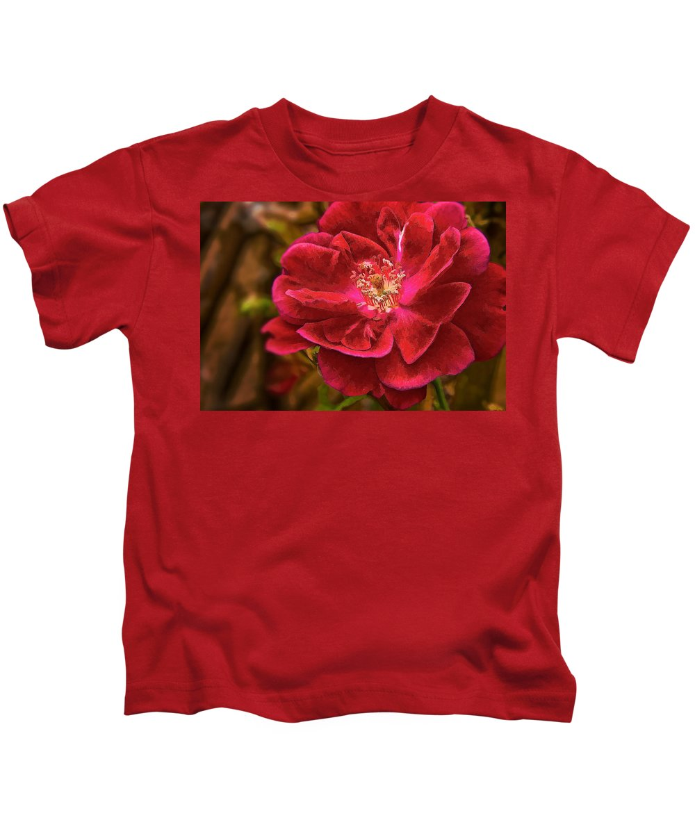 Rose Kids T-Shirt featuring the photograph Wild Rose As Oil by Charles Muhle