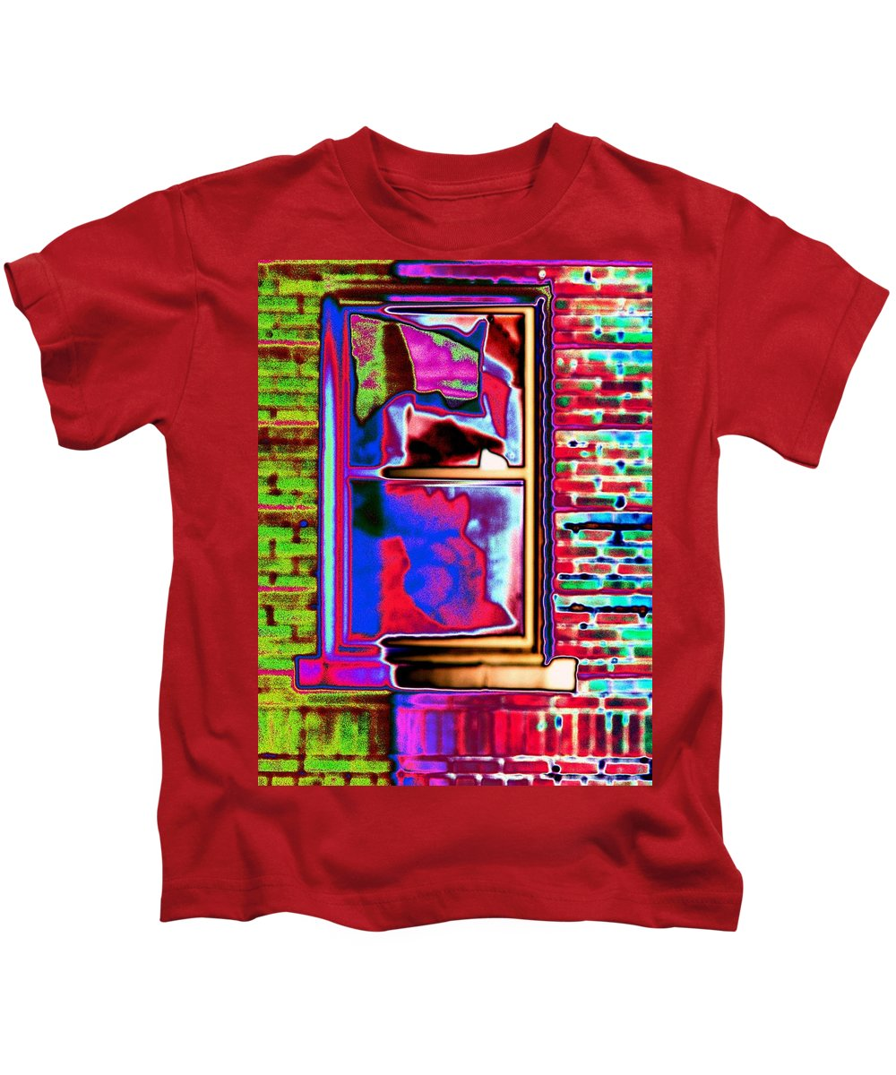 Window Kids T-Shirt featuring the digital art Window 1 by Tim Allen