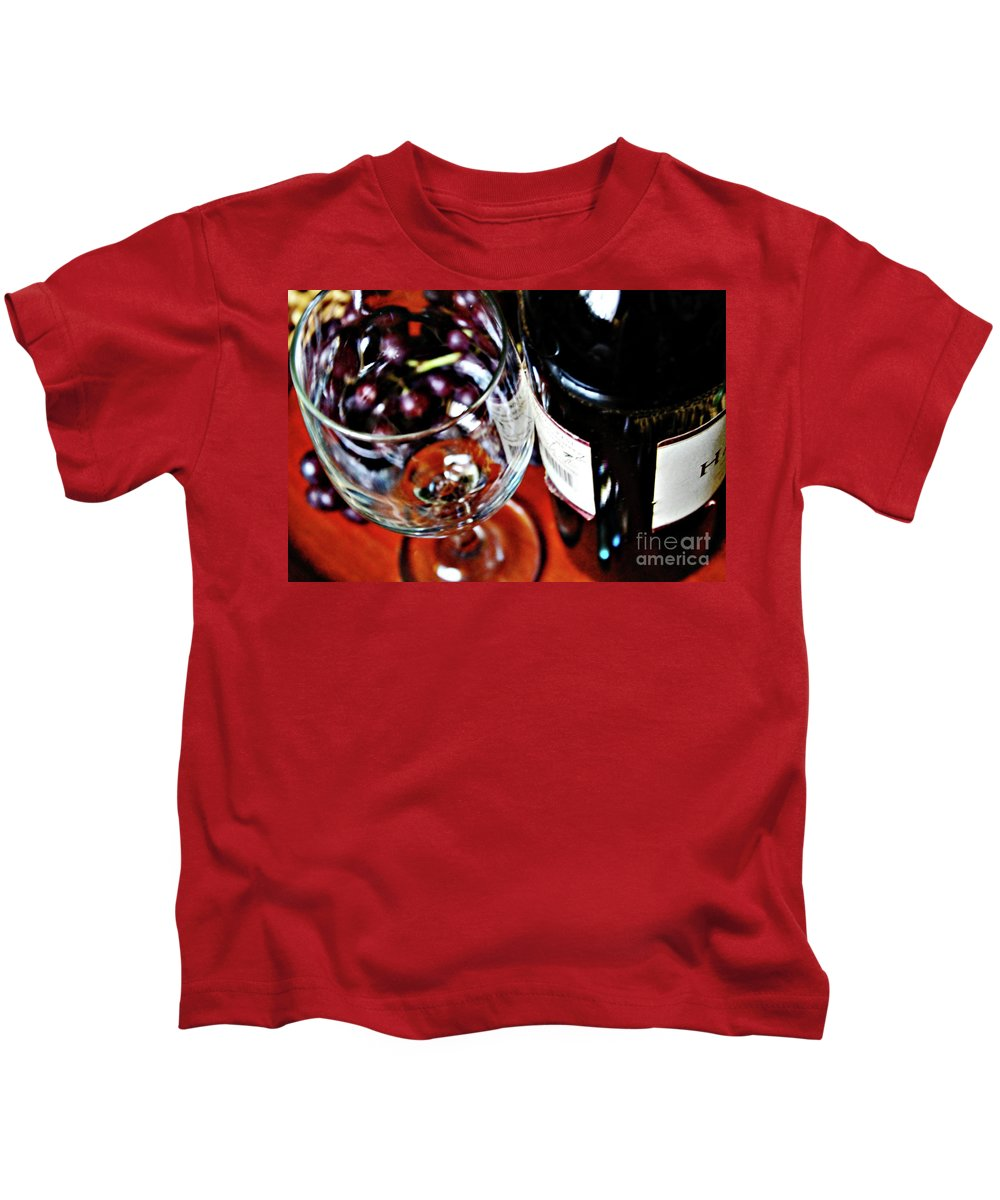 Wine Kids T-Shirt featuring the photograph Wine And Dine 1 by Don Baker