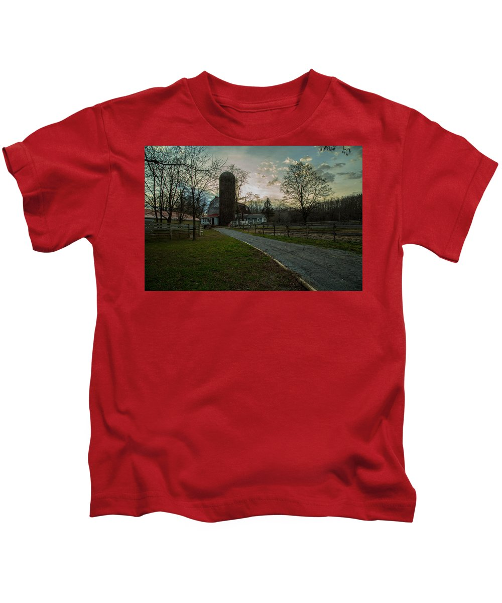 Wintered Kids T-Shirt featuring the photograph Winterwood Farm by Robert Rotkowitz