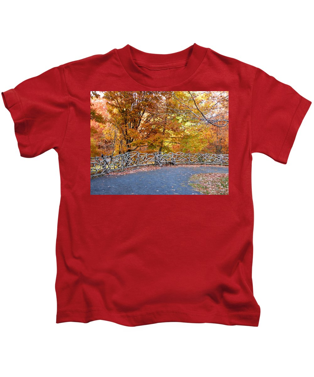 Wood Fence Kids T-Shirt featuring the painting Wood Fence 1 by Jeelan Clark