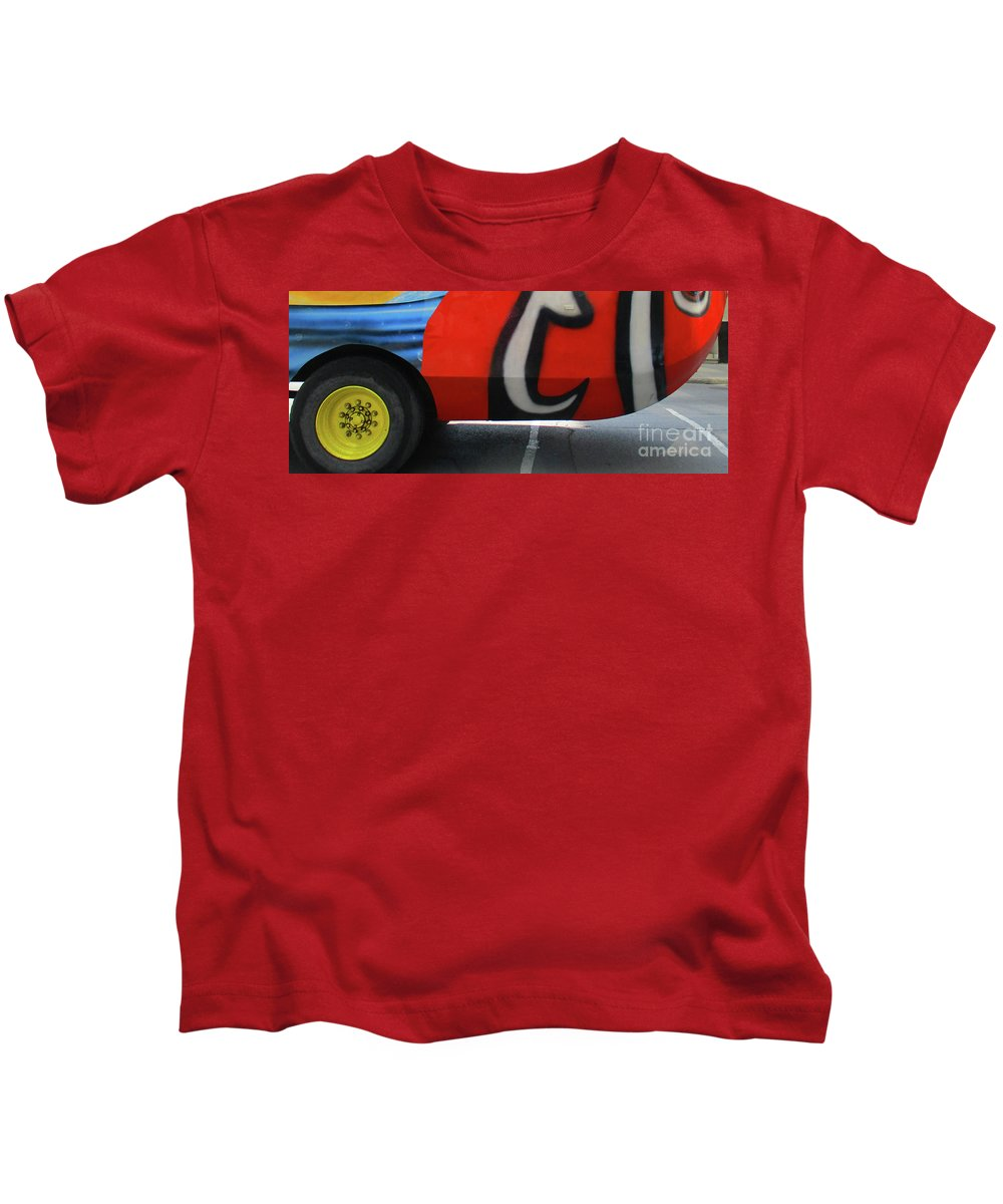 Wheel Kids T-Shirt featuring the photograph Yellow Wheel by Randall Weidner