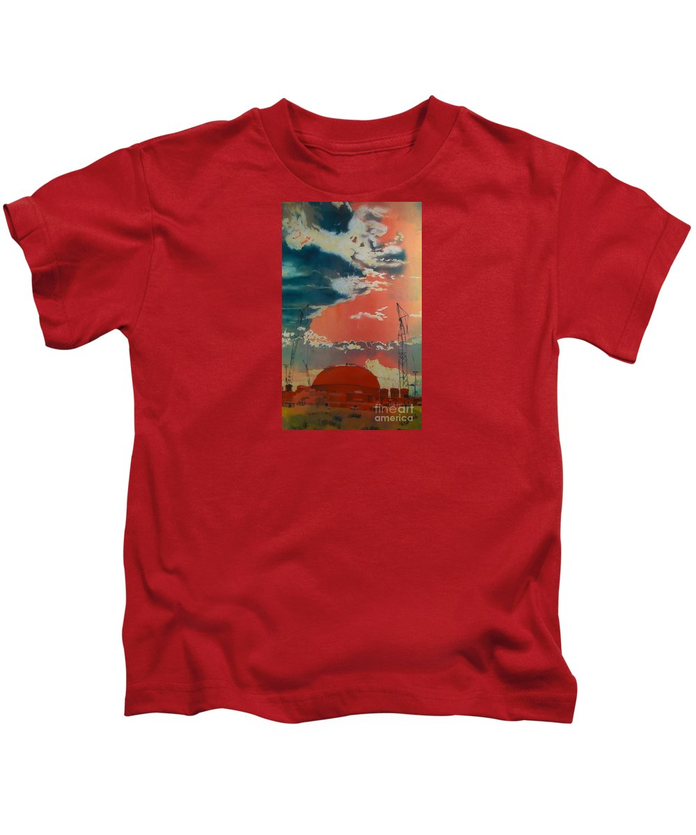 Orange Kids T-Shirt featuring the painting Yin And Yang by Elizabeth Carr