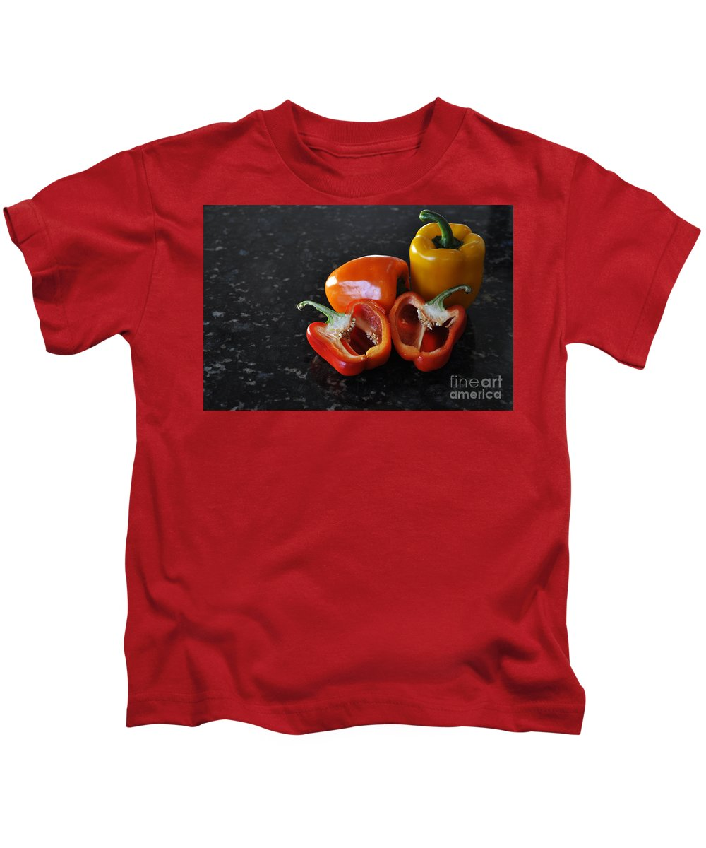 Orange Kids T-Shirt featuring the photograph Yummy by Crystal J Harwood