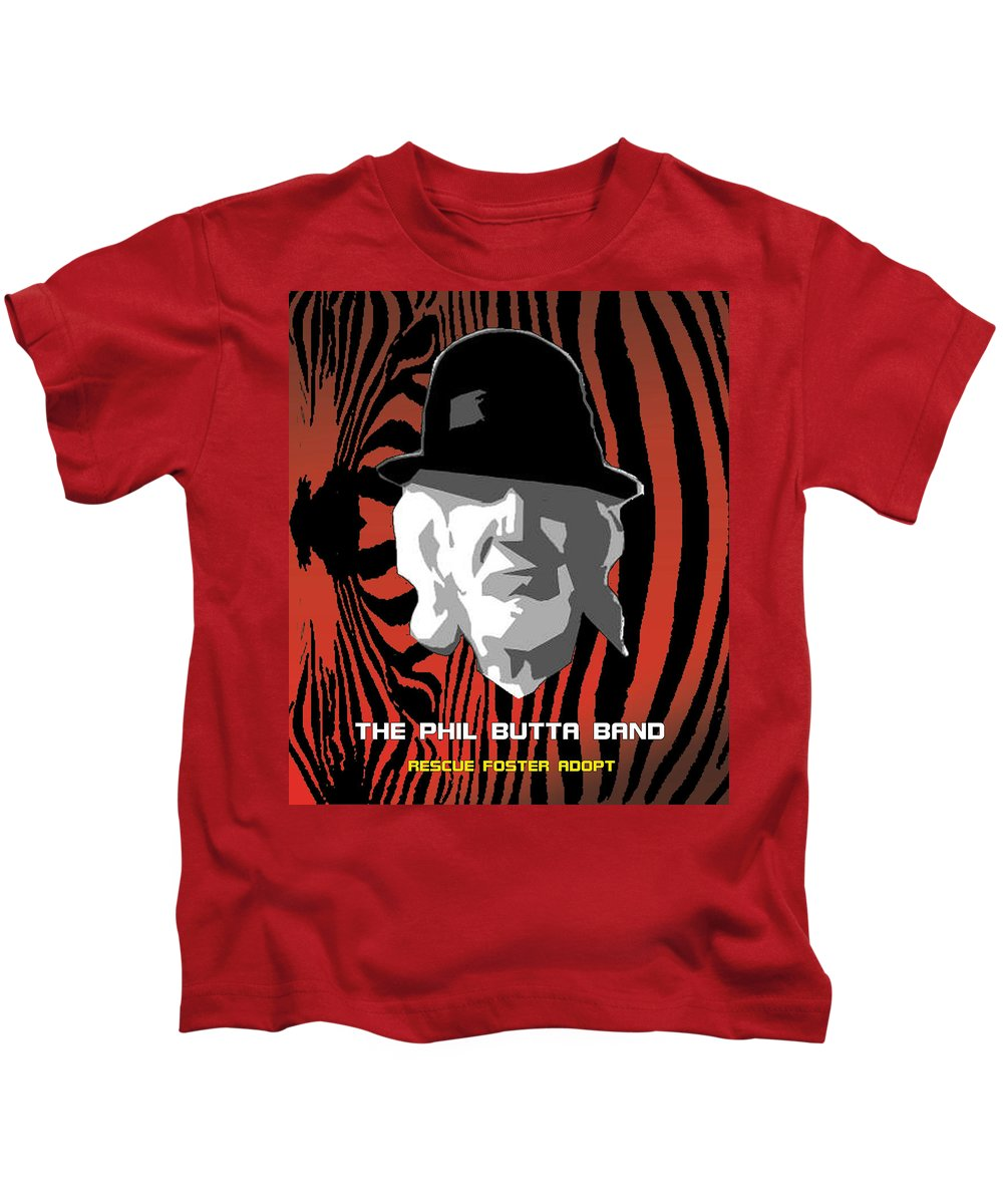 Rescue Kids T-Shirt featuring the photograph Zebra Blues Man by Philip Butta