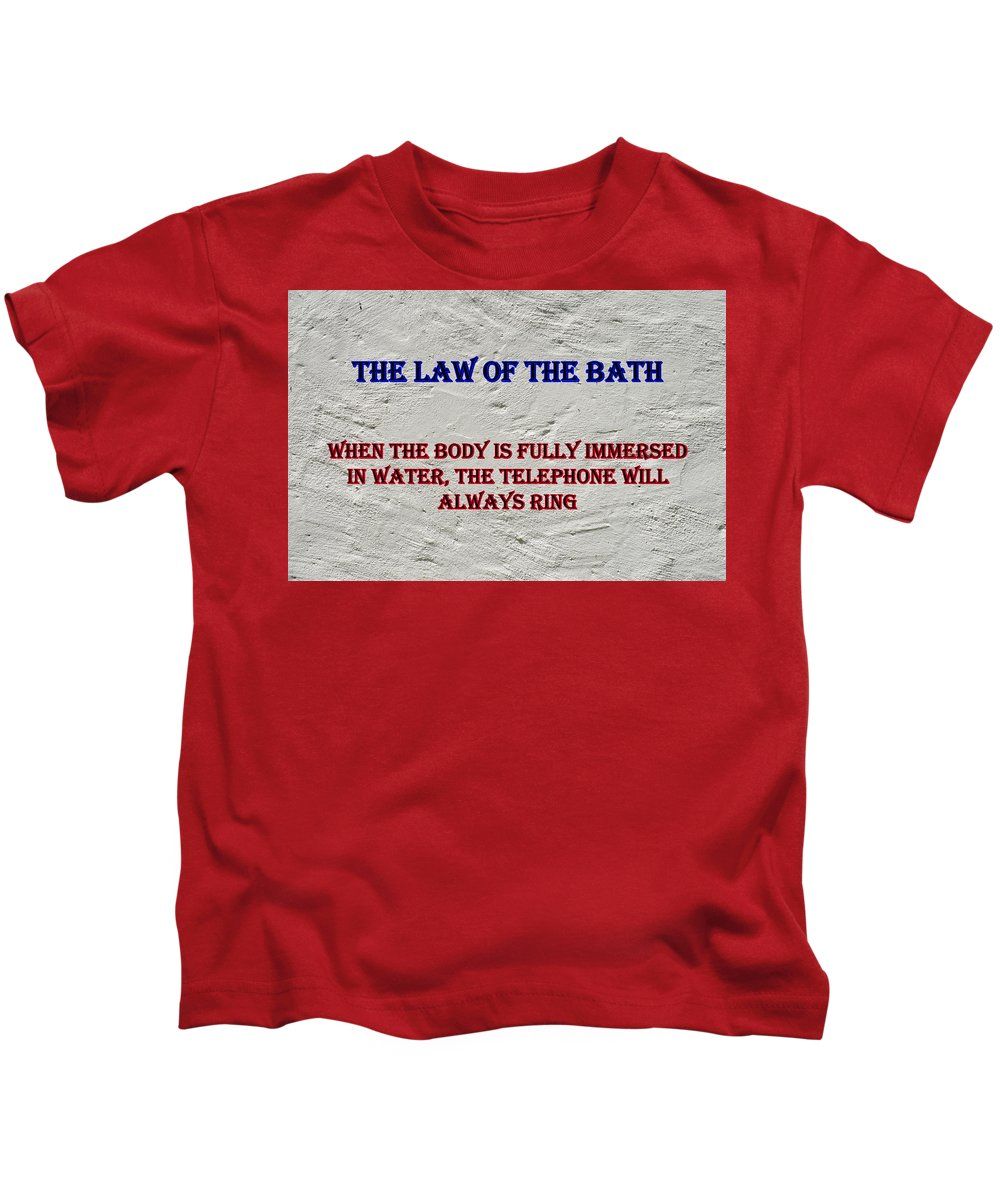 Advice Kids T-Shirt featuring the photograph Murphy's Law Of Nature by Robert Kinser