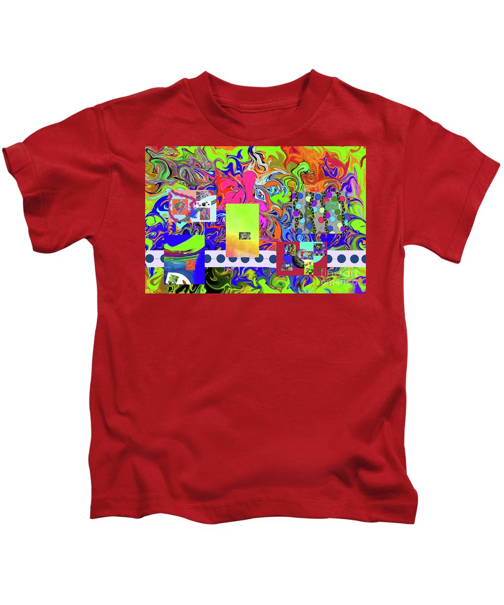 Walter Paul Bebirian Kids T-Shirt featuring the digital art 9-10-2015babcdefghijklmnopqrtuvwxyzab by Walter Paul Bebirian