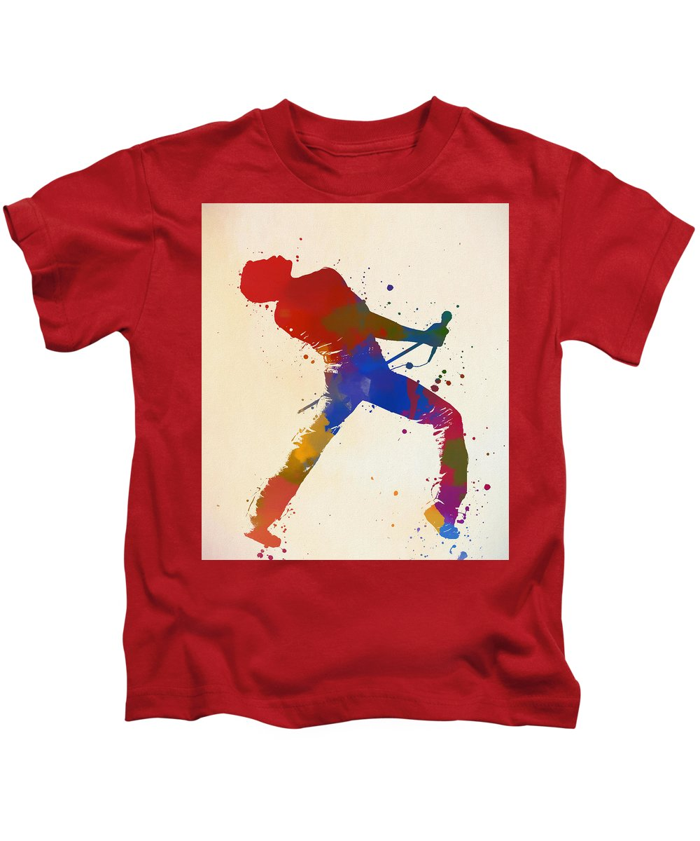Freddie Mercury Queen Kids T-Shirt featuring the painting Bohemian Rhapsody by Dan Sproul