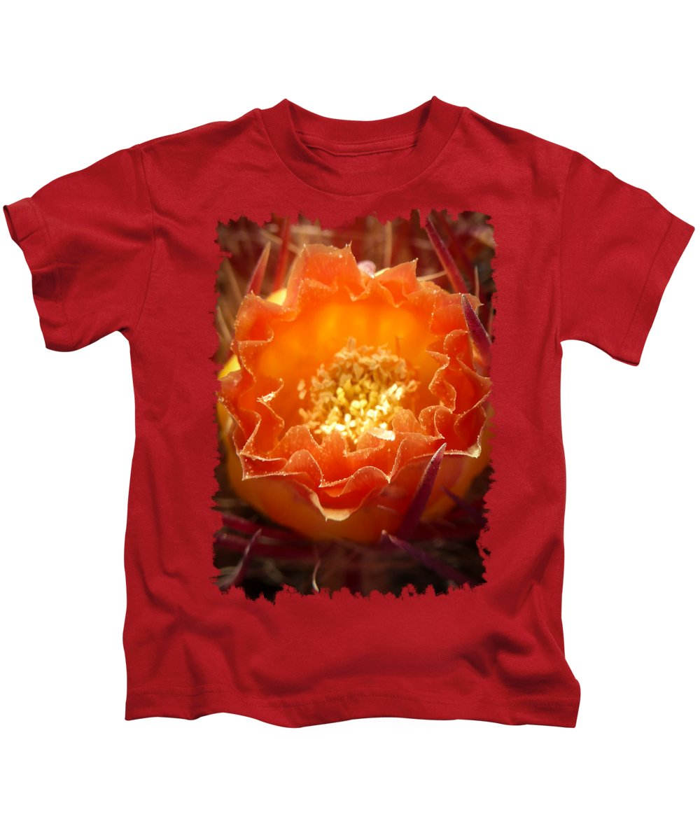 Cactus Kids T-Shirt featuring the photograph Cactus Bloom by Eric Nagel