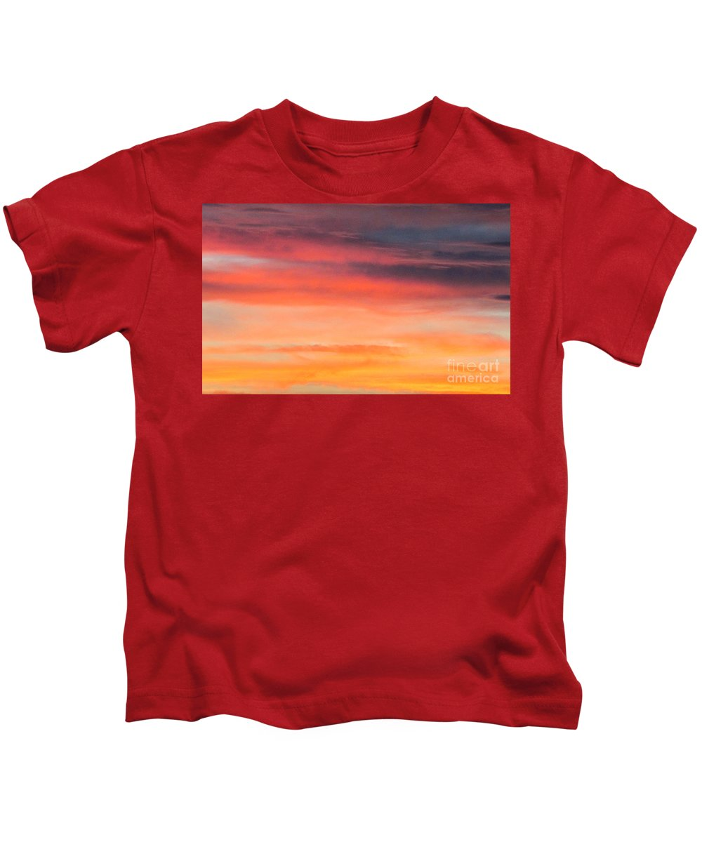 Clouds Kids T-Shirt featuring the photograph Colorful Clouds In The Sky 1 by Diana Rivera