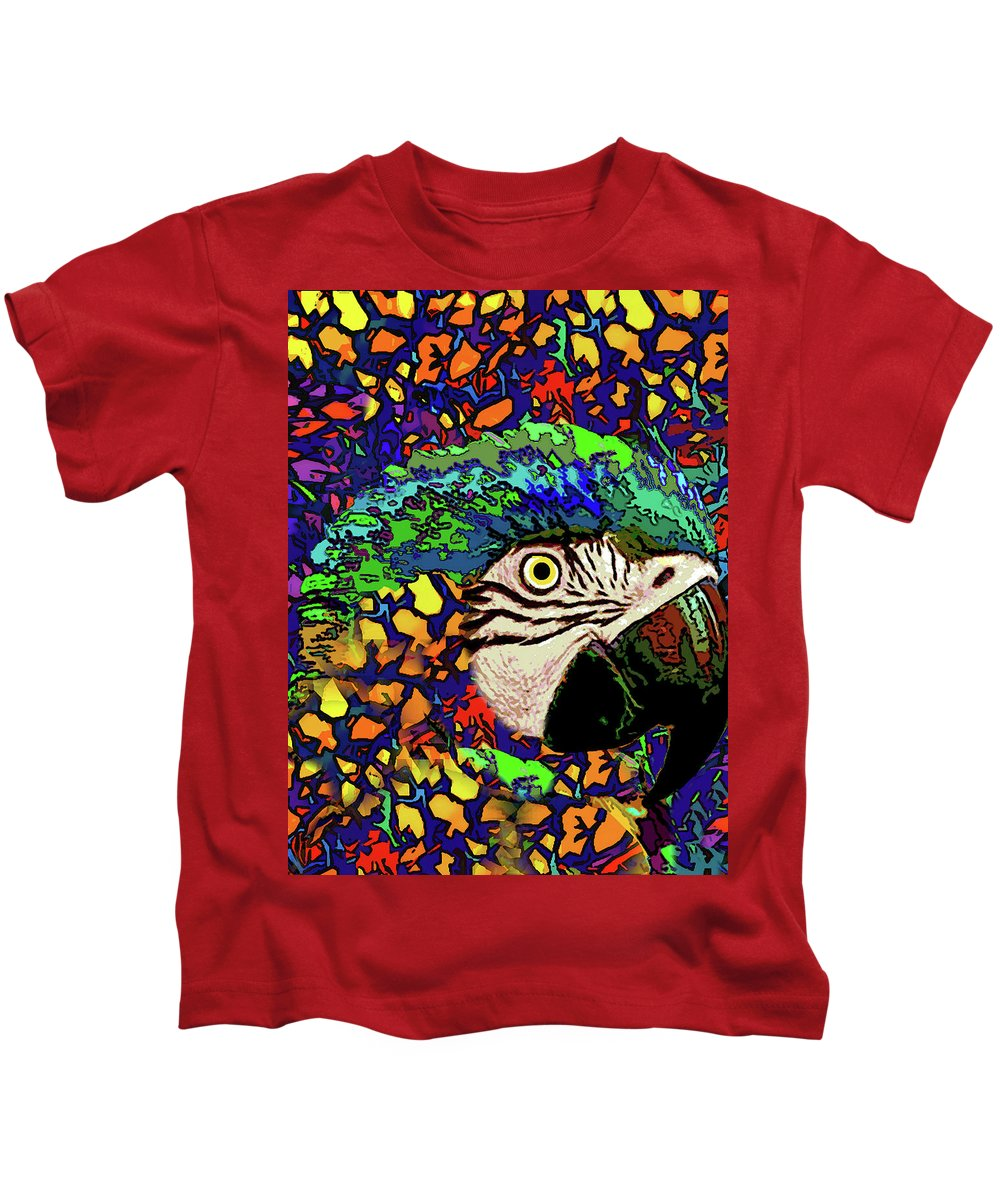 Kids T-Shirt featuring the photograph Macaw High II by Rafael Serur