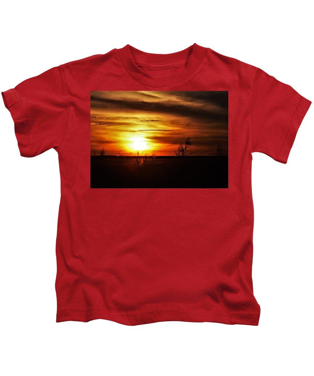 Marshlands Kids T-Shirt featuring the photograph Rusty Sunset by John Glass