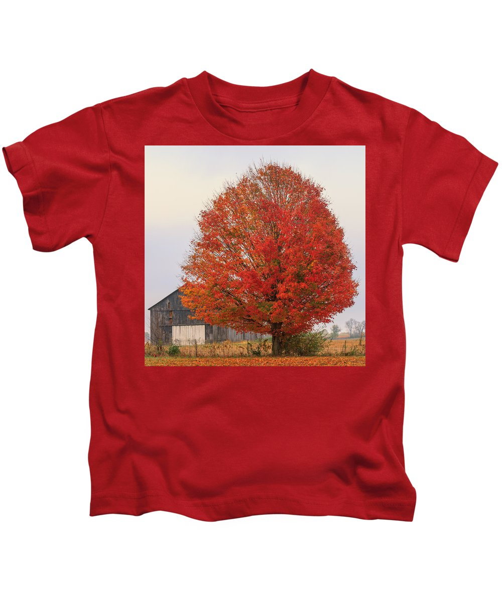 Fareed Khan Kids T-Shirt featuring the photograph The Barn by Fareed Khan