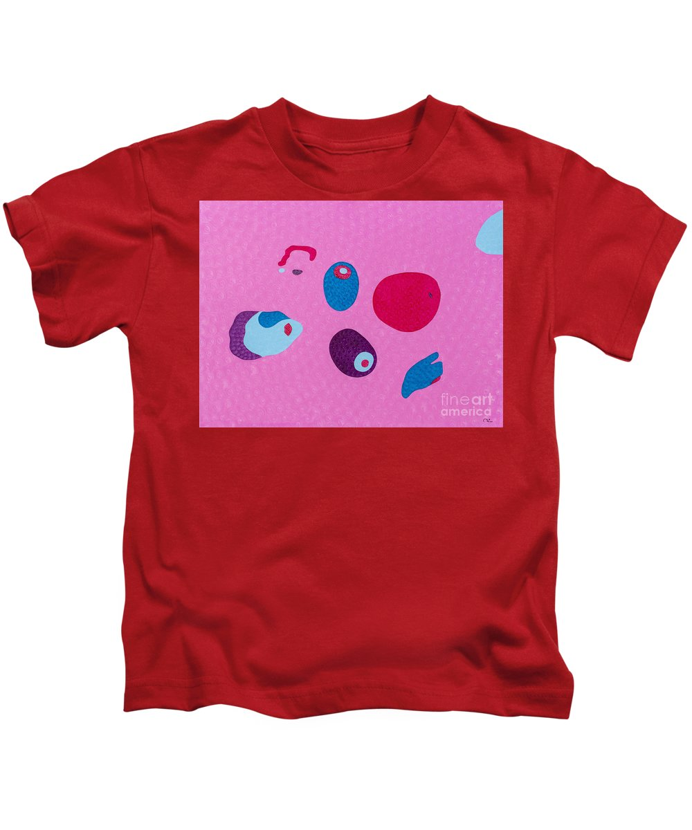 Body Kids T-Shirt featuring the painting Woman Taking A Bath by Natalia Lvova
