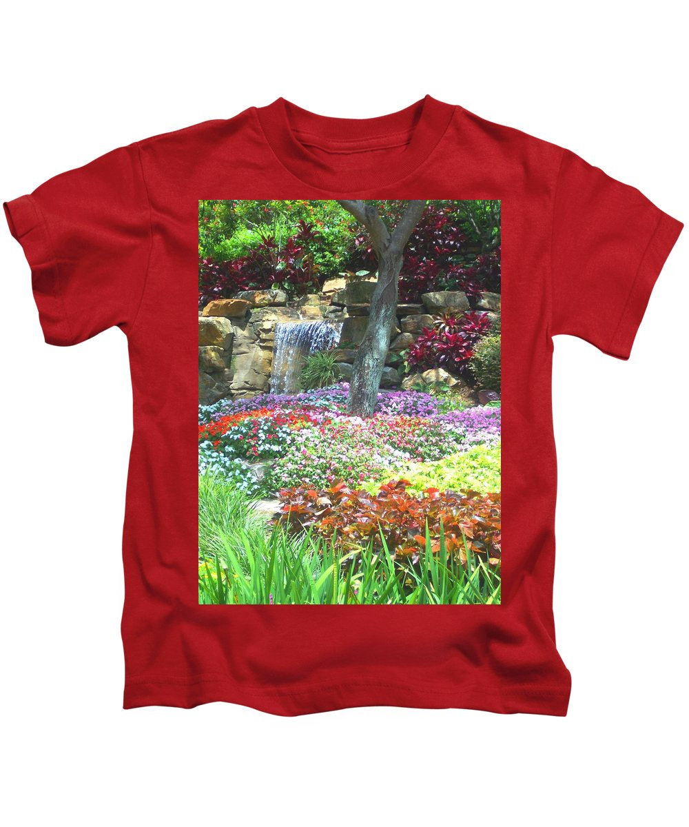 Garden Kids T-Shirt featuring the photograph Floral Garden by Pharris Art