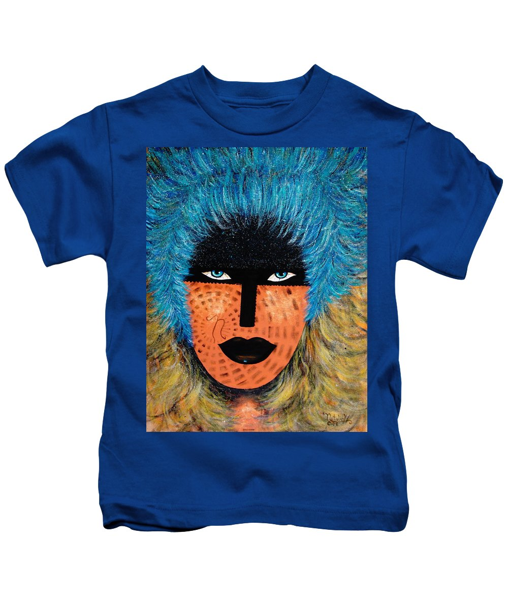 Woman Kids T-Shirt featuring the painting Viva Niva by Natalie Holland