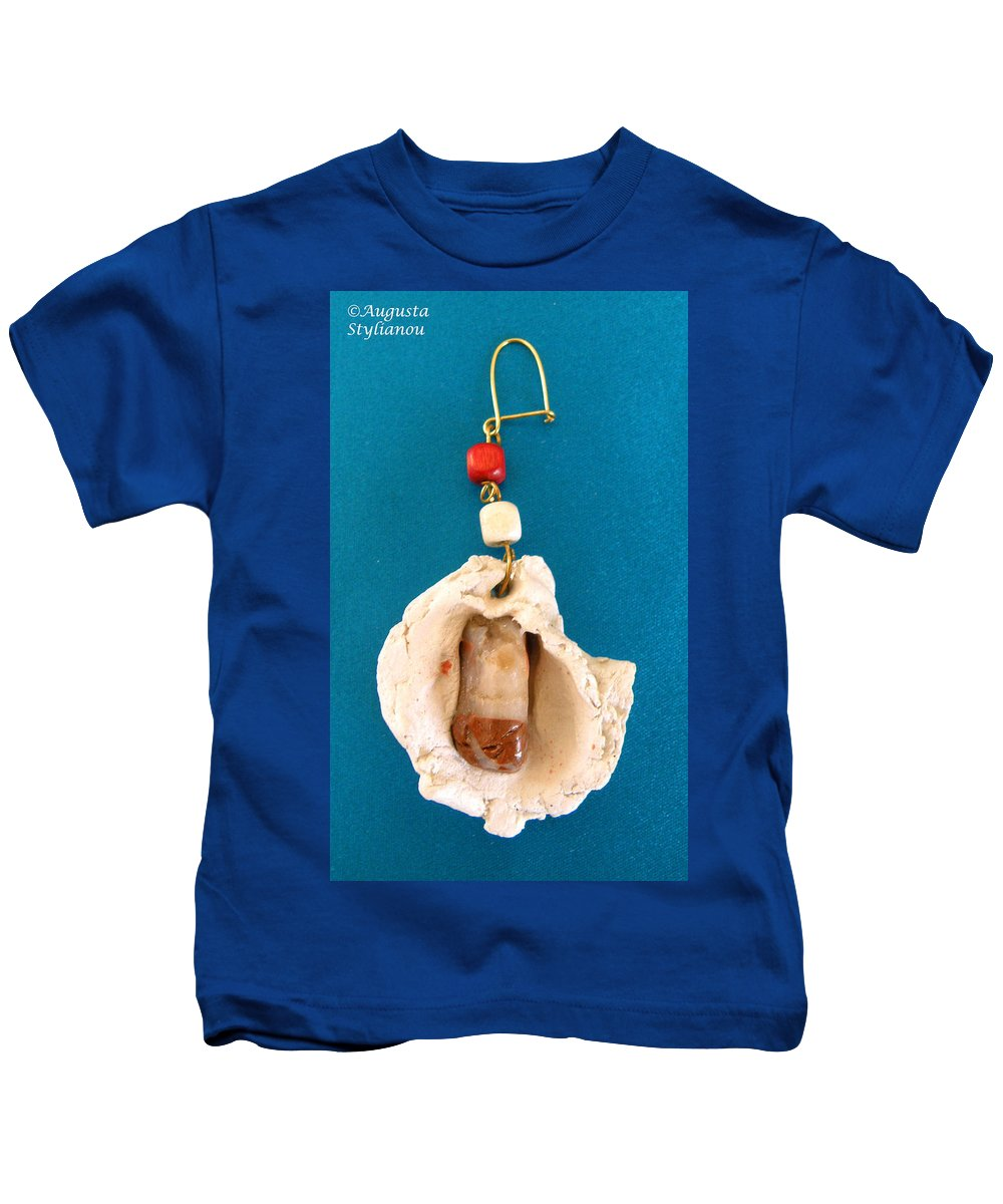Augusta Stylianou Kids T-Shirt featuring the jewelry Aphrodite Earring by Augusta Stylianou