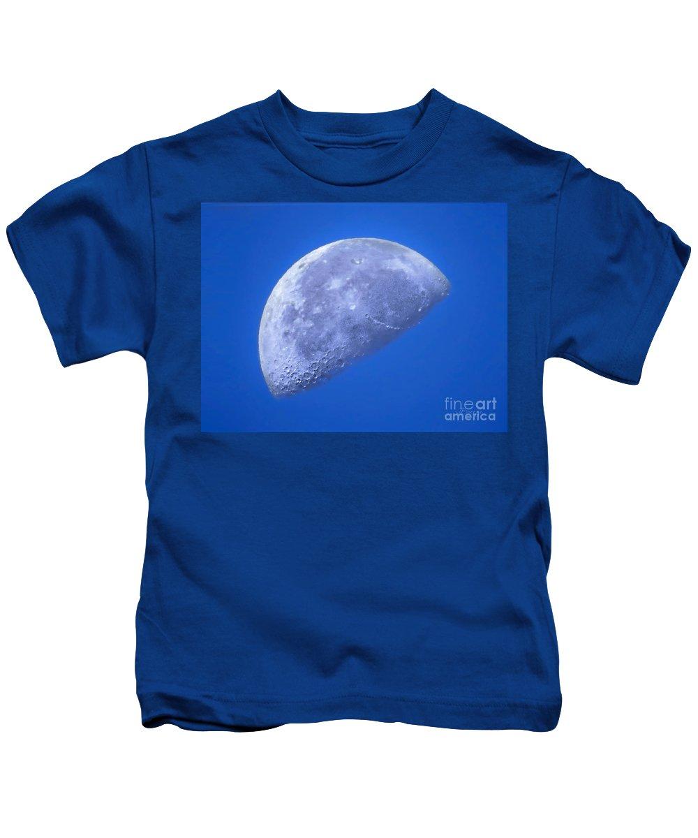 Blue Kids T-Shirt featuring the photograph Blue Moon by Jennie Breeze