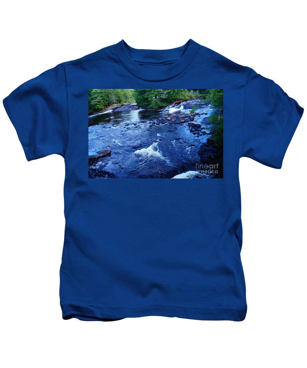 Waterfalls Kids T-Shirt featuring the photograph Bog River Falls by Jeffery L Bowers
