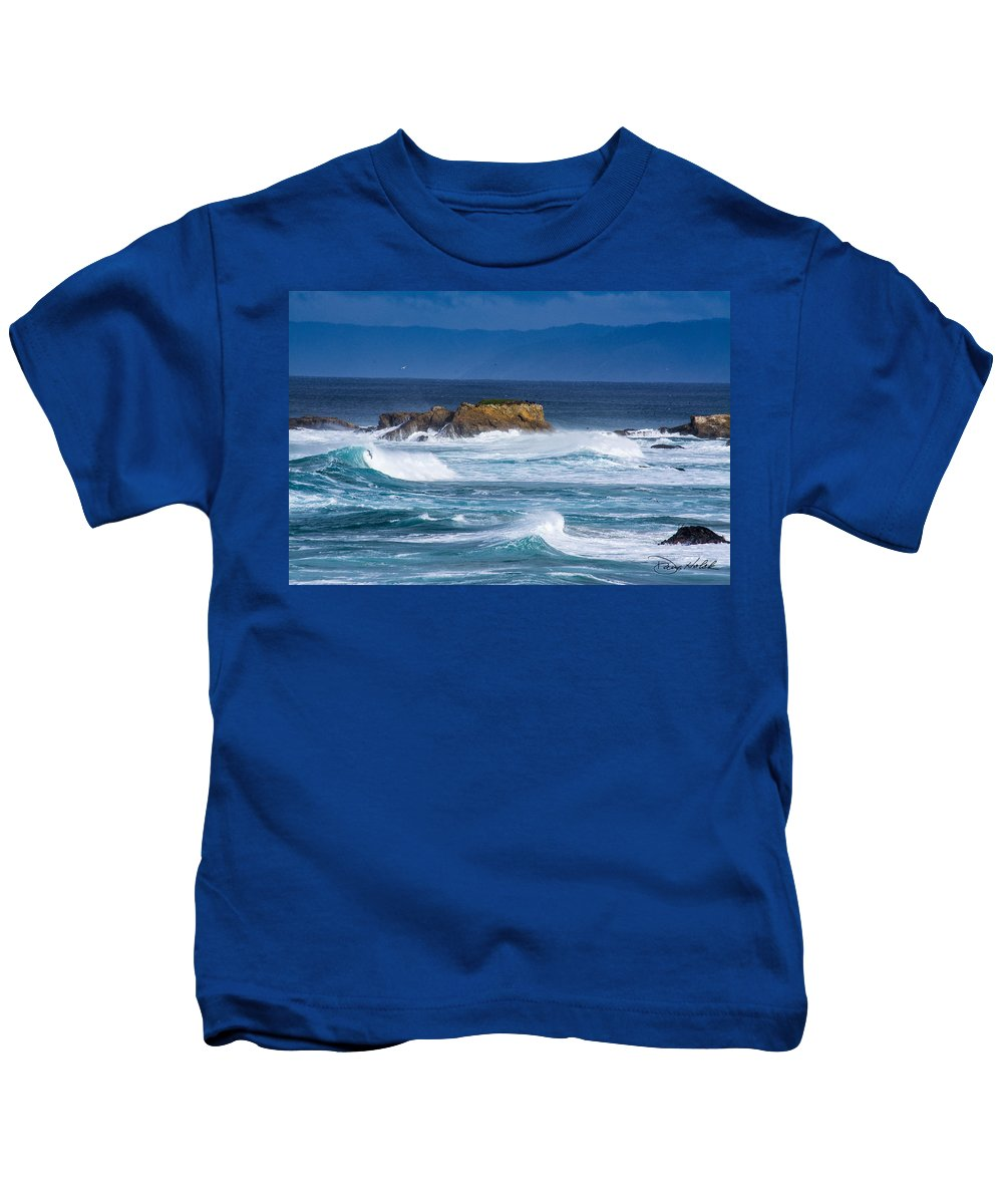 Coastline Kids T-Shirt featuring the photograph Fort Bragg Coastline by Doug Holck