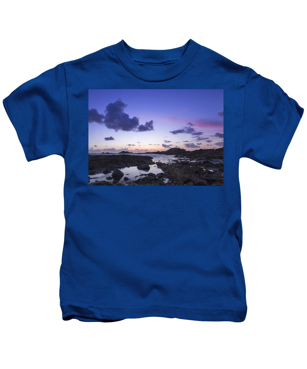 Sunset Kids T-Shirt featuring the photograph Guernsey Sunset by Chris Smith