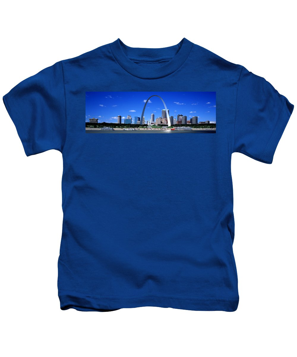 Photography Kids T-Shirt featuring the photograph Skyline, St Louis, Mo, Usa by Panoramic Images