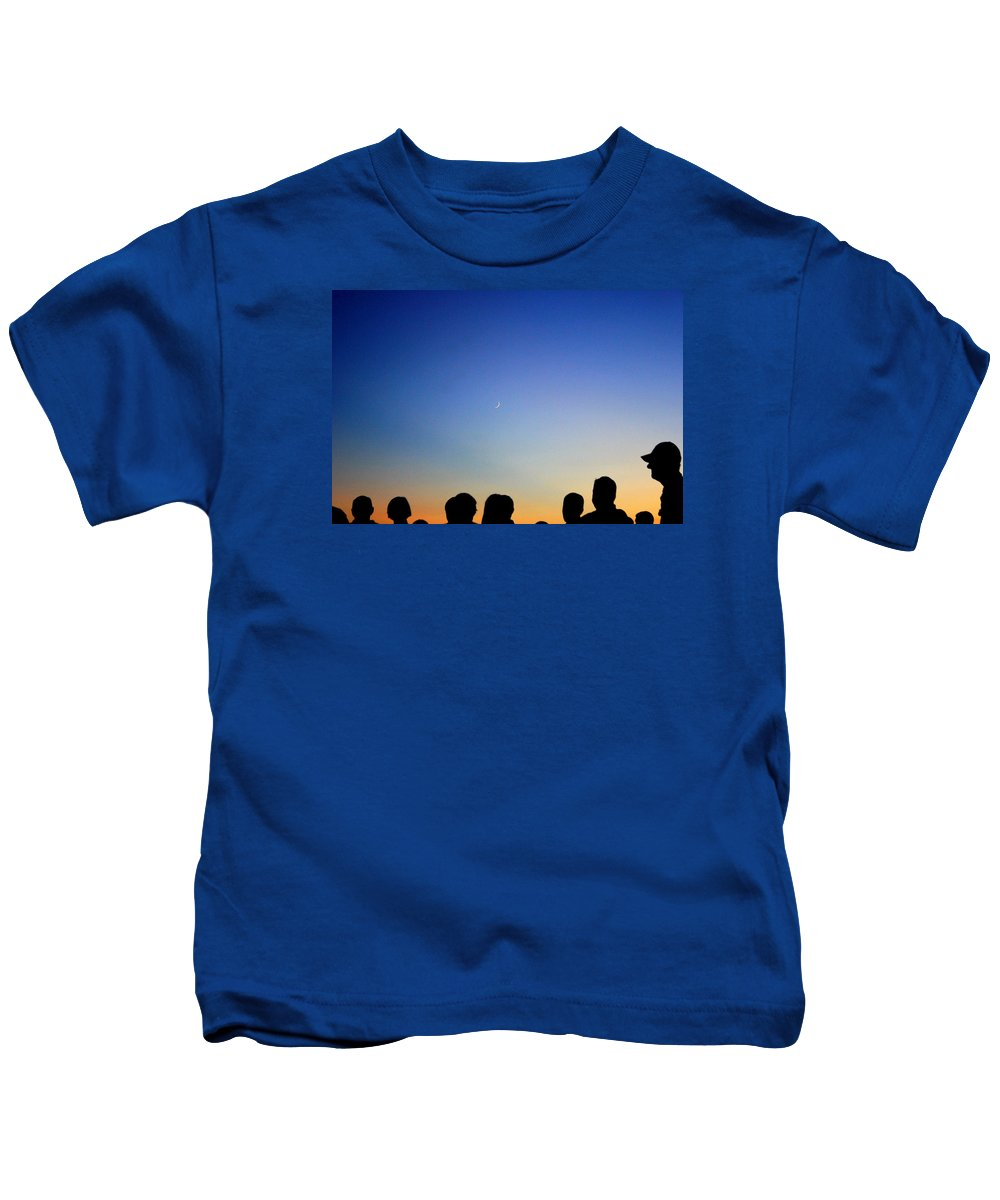 Sea Kids T-Shirt featuring the photograph Watching The Moon by Iryna Goodall