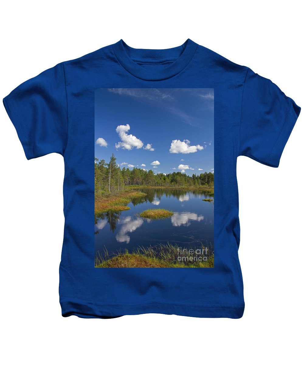 Moorland Kids T-Shirt featuring the photograph 110613p186 by Arterra Picture Library