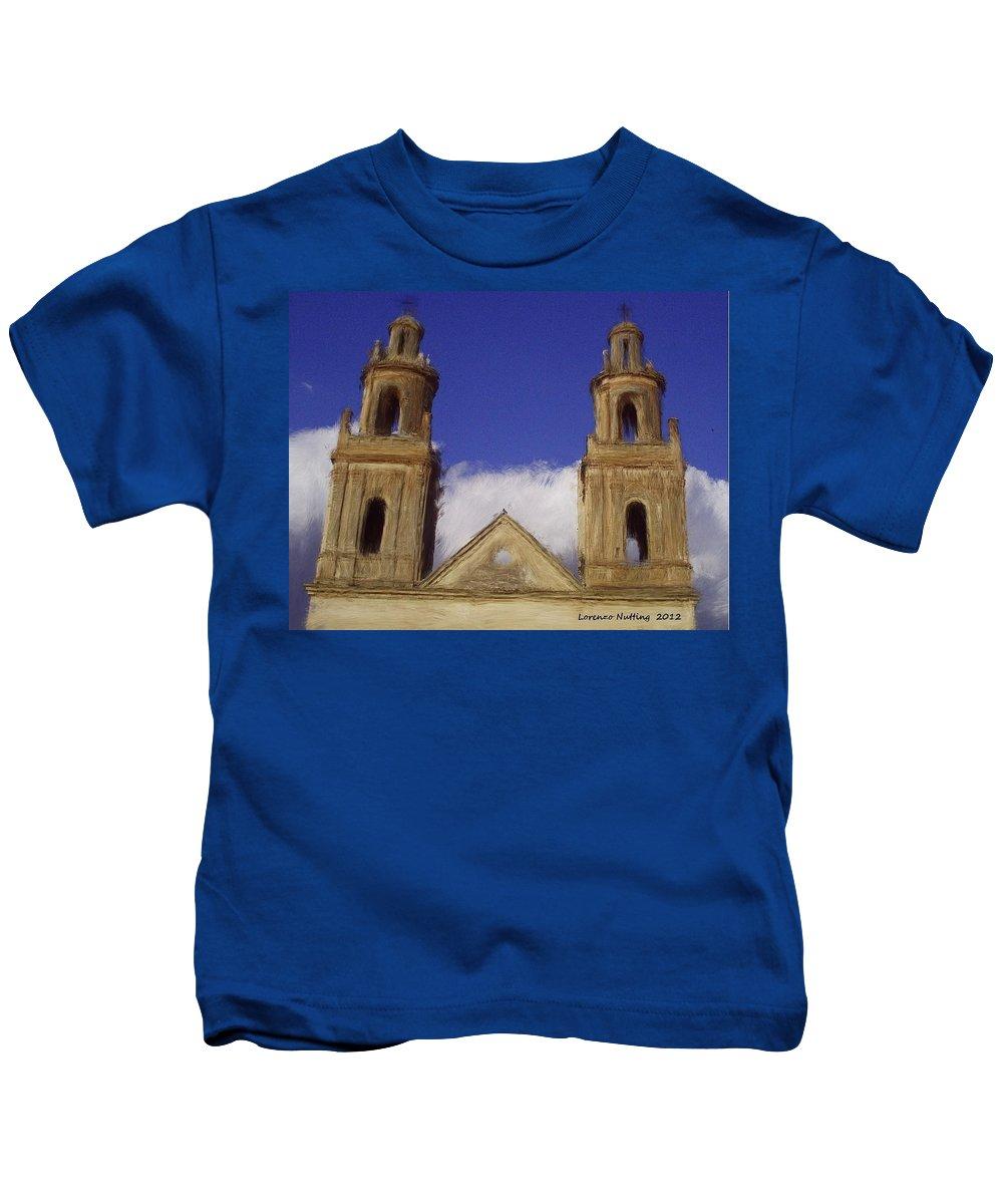 Las Gemelas Kids T-Shirt featuring the painting Las Gemelas by Bruce Nutting
