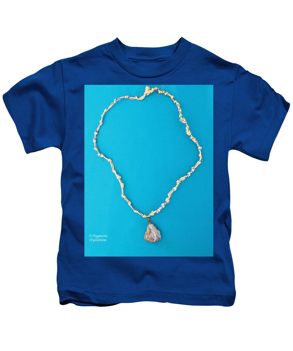 Augusta Stylianou Kids T-Shirt featuring the jewelry Aphrodite Urania Necklace by Augusta Stylianou