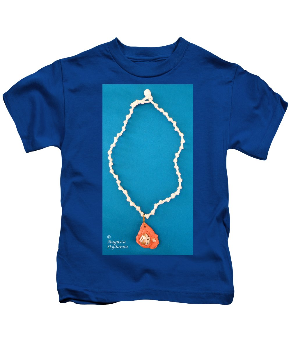 Augusta Stylianou Kids T-Shirt featuring the jewelry Aphrodite Gamelioi Necklace by Augusta Stylianou