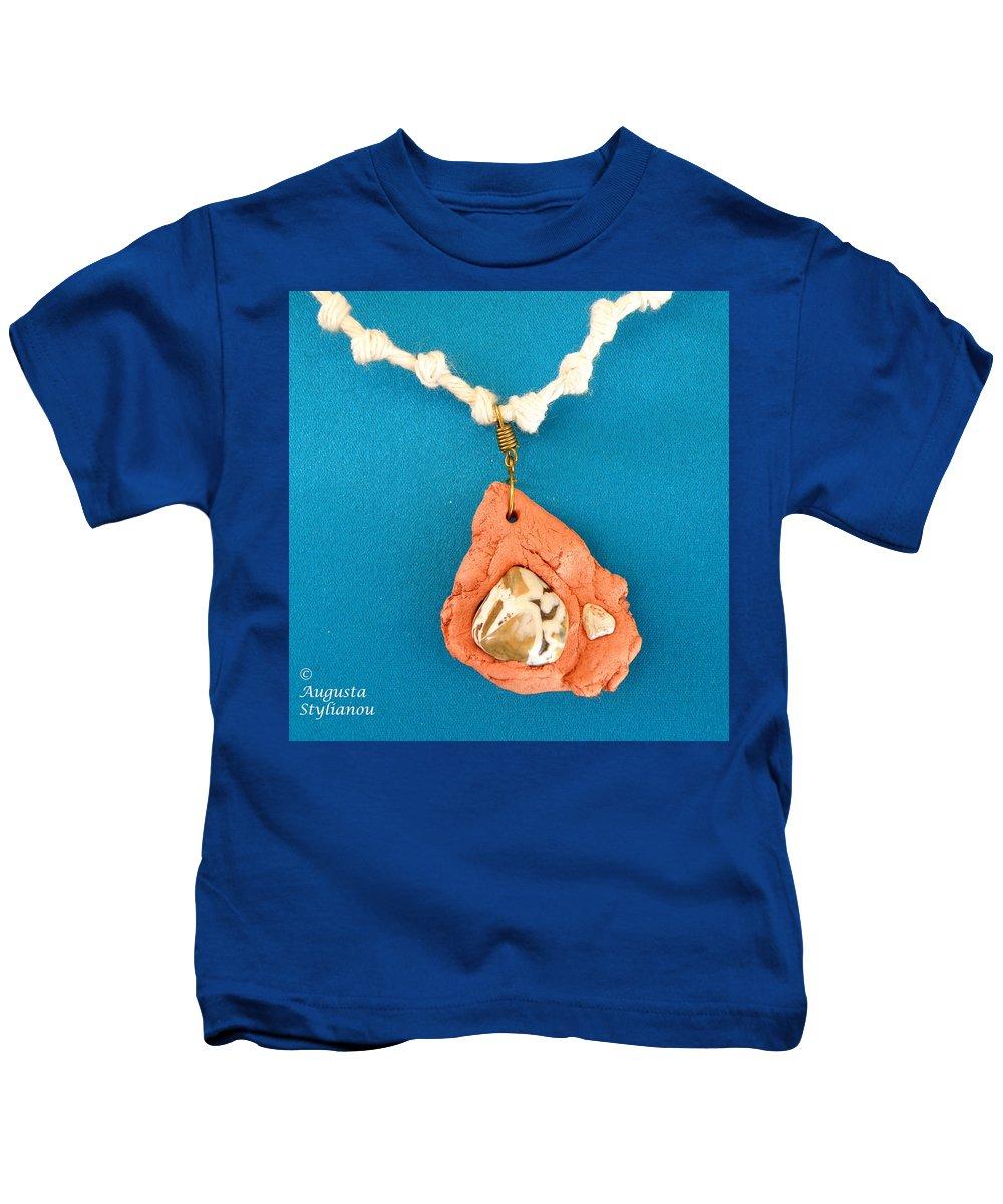 Augusta Stylianou Kids T-Shirt featuring the jewelry Aphrodite Gamelioi Necklace by Augusta Stylianou