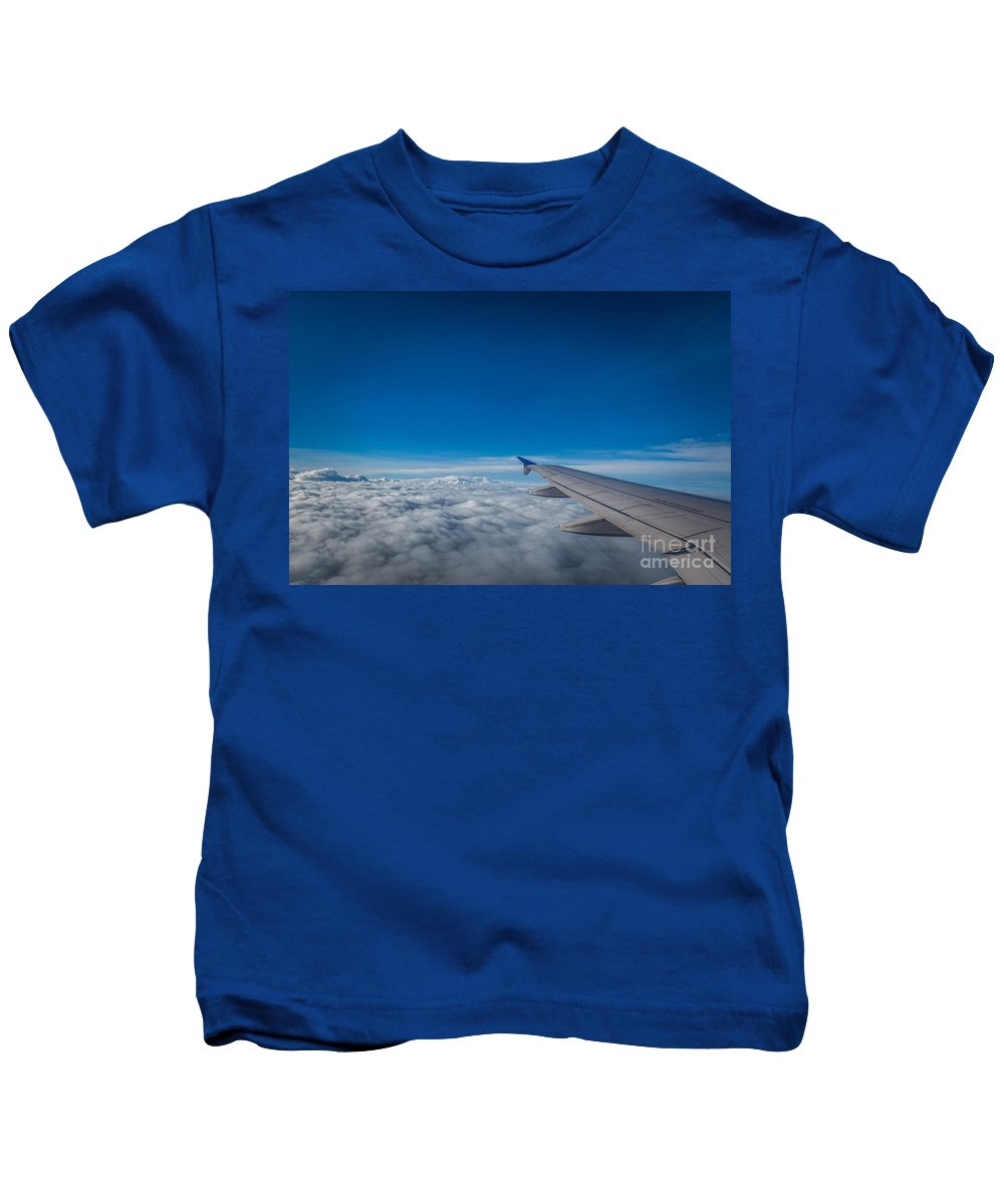 Above The Clouds Kids T-Shirt featuring the photograph Above The Clouds by Michael Ver Sprill