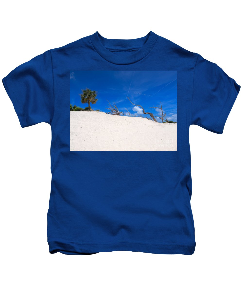 Sand Kids T-Shirt featuring the photograph Above The Dunes by Louise Heusinkveld