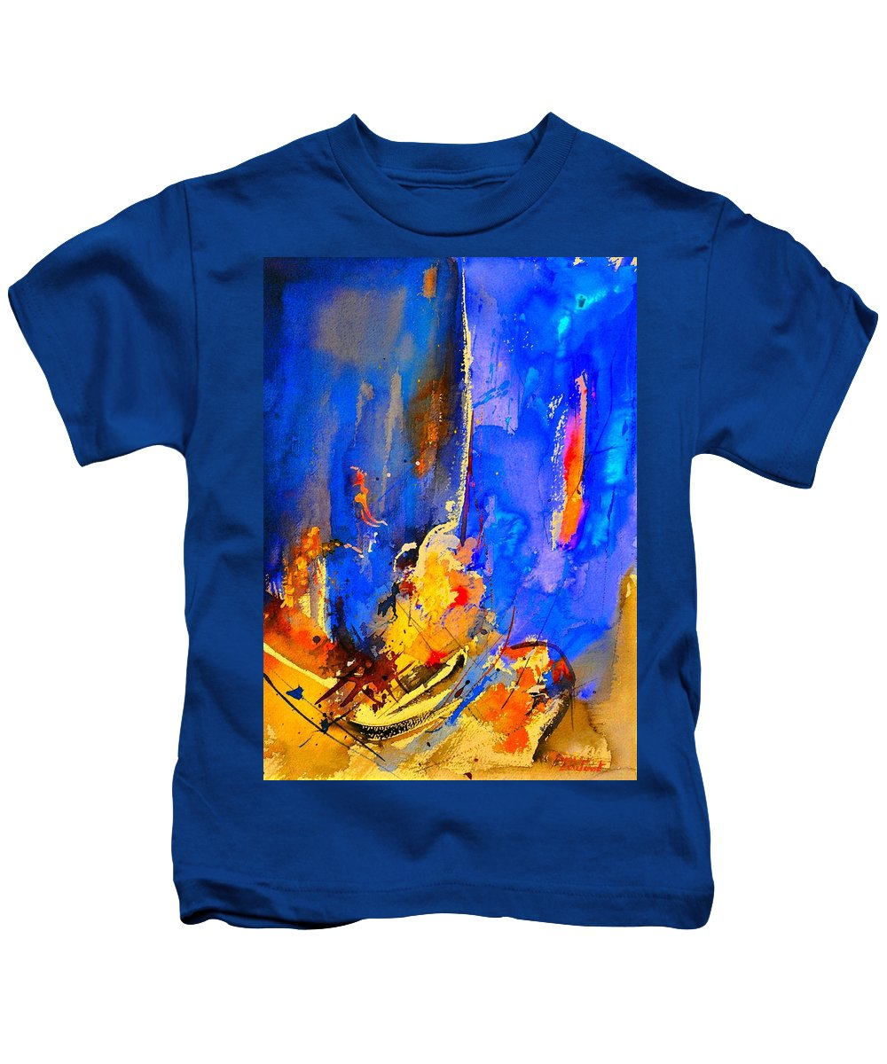 Abstract Kids T-Shirt featuring the painting Abstract 434180 by Pol Ledent